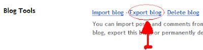 Cara back-up dan eksport postingan