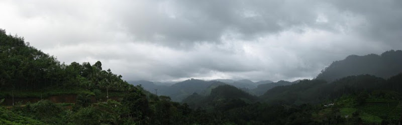 Kalawana Sinharaja Sri Lanka Cloudy Mountains Panorama