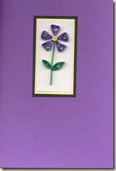 Quilled violet