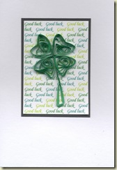 Quilled clover