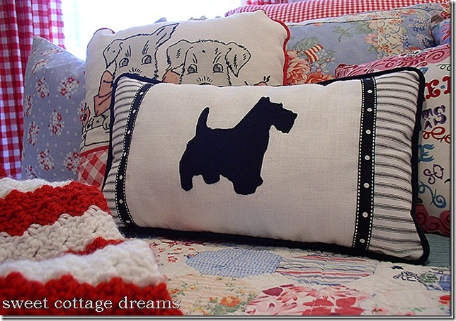 judy's scottie pillow
