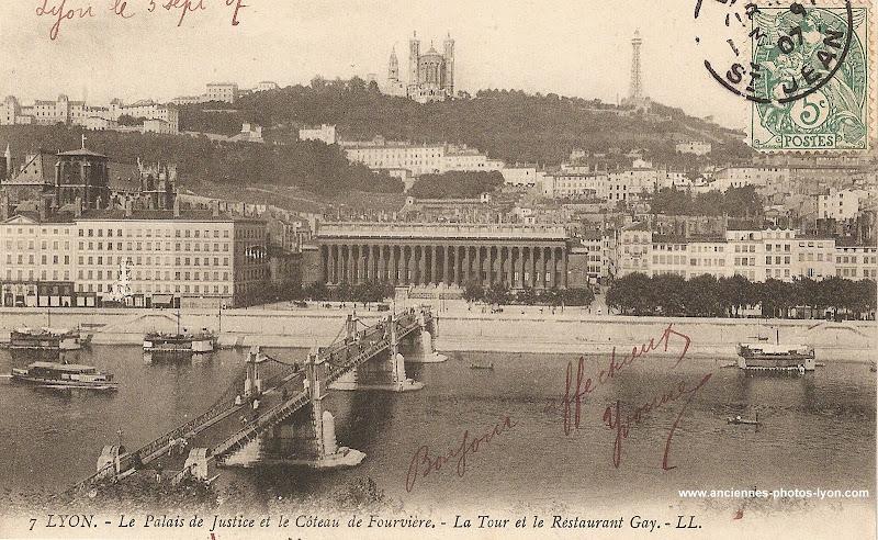 Passerelle du Palais de justice, Lyon 1907