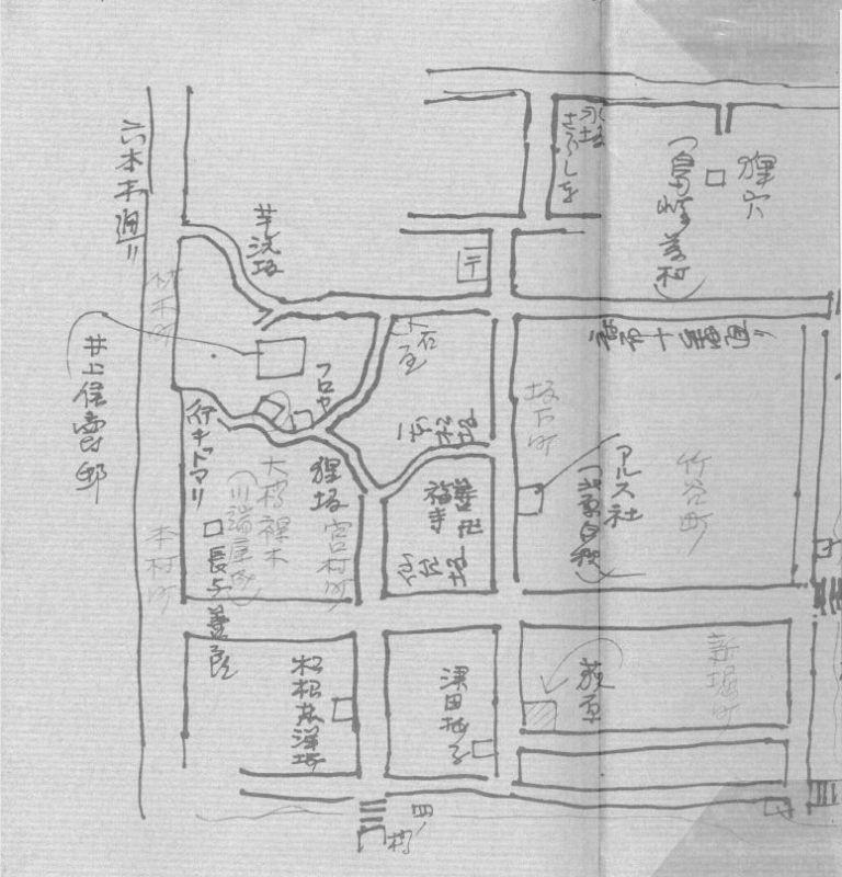 川端康成仮寓図