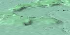 三田小山町の立体地形図(複数)