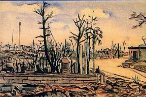 昭和20年5月空襲で焼け野原となった六本木−恩田孝徳「六本木にて」
