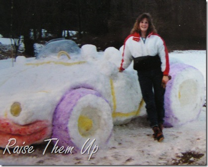 snow car and me
