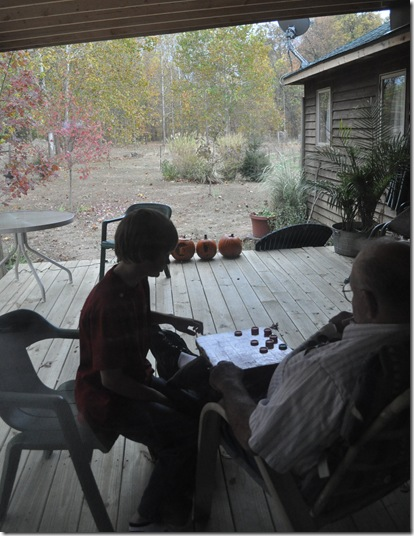 checkers on the porch 3