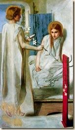 Ecce Ancilla Domini, Dante Gabriel Rossetti, 1850
