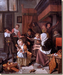The Feast of St. Nicholas by Jan Steen
