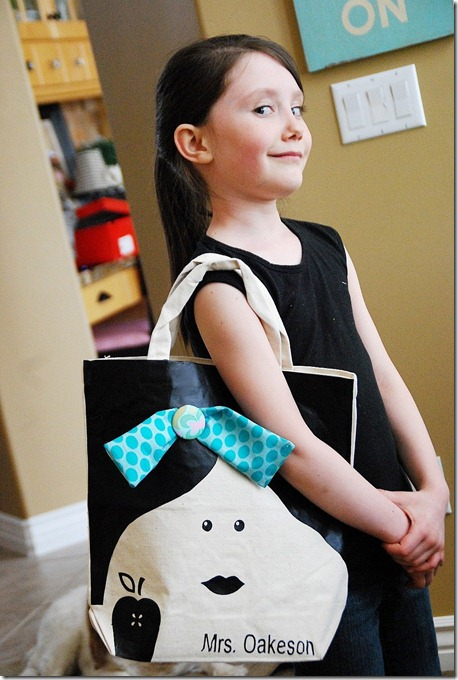 teacher appreciation face bag ella