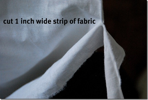 cut the fabric
