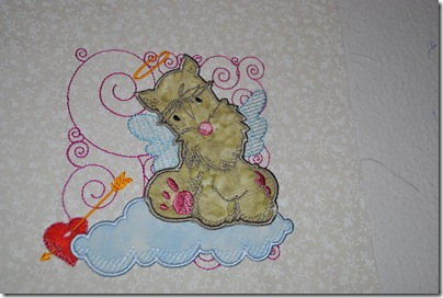 Appliqued Angel Puppies 005