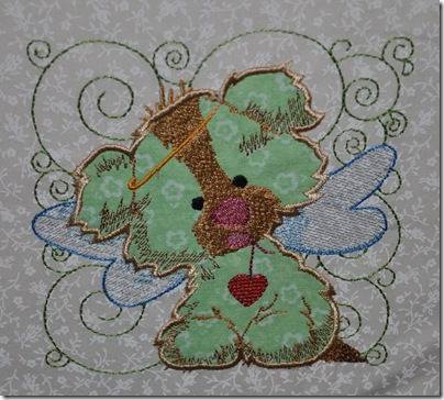 Appliqued Angel Puppies 014