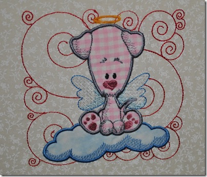 Appliqued Angel Puppies 010