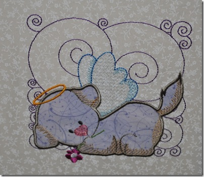 Appliqued Angel Puppies 013