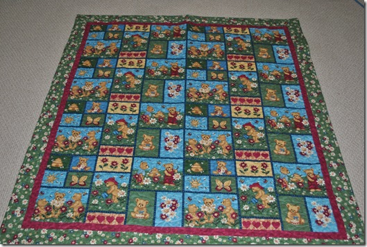 Flannel Baby Quilt 001