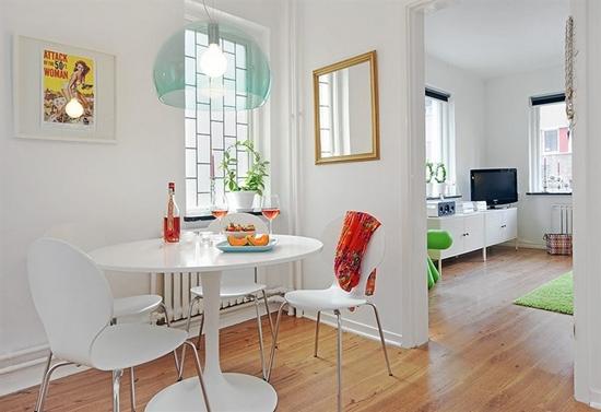 decorar kitnet homem:Small Apartment Dining Room Ideas