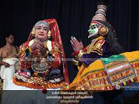 KrishnaLeela Kathakali: Margi Vijayakumar as Devaki and Kalamandalam Mukundan as SriKrishnan.