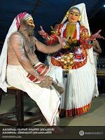 SanthanaGopalam Kathakali: Kalamandalam Kesavan Nampoothiri as Brahmanan and Kalamandalam Vijayakumar as BrahmanaPathni.