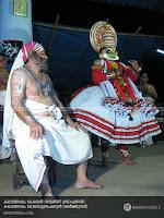SanthanaGopalam Kathakali: Kalamandalam Kesavan Nampoothiri as Brahmanan and Kalamandalam Balasubrahmanian as Arjunan.