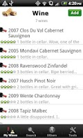 Screenshot of Wine + List, Ratings & Cellar