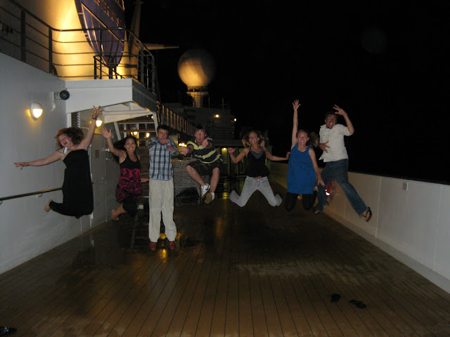 On the deck of the MV Explorer, Semester at Sea