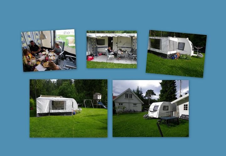 Campingliv i hagen