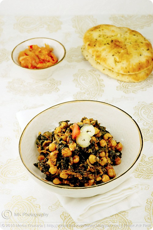 Chickpeas with Spinach – Channa Palak (02) by MeetaK