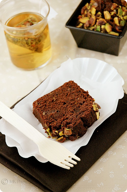 Rich Chocolate Banana Breads with Pistachios, Pink Praline and Au Naturel (03) by MeetaK