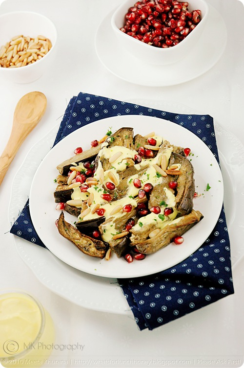 Roasted Aubergine Salad with Saffron Yogurt (02) by MeetaK