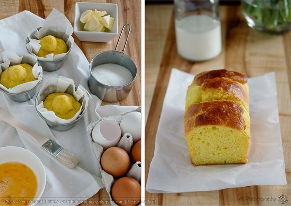 Saffron Brioche Diptych by MeetaK