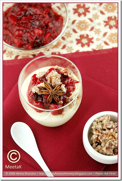 Quark Panna Cotta Cranberry Compote (02) by MeetaK