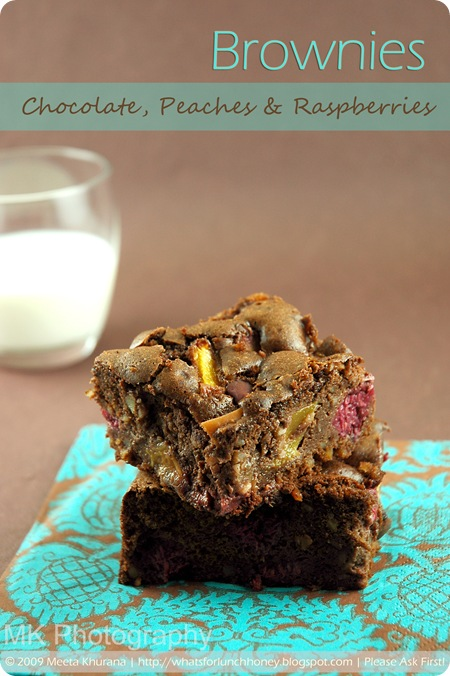 Chocolate Raspberry and Peach Brownies (1)by MeetaK