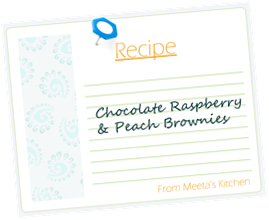 Meeta Recipe Card Fruit Brownies