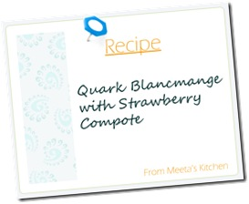 Meeta Recipe Card Blancmange