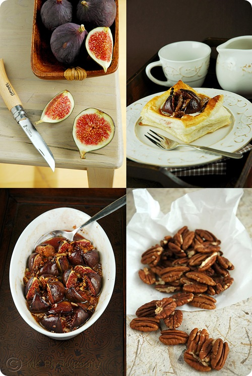 Vol Au Vent Figs Mascarpone -Collage by MeetaK