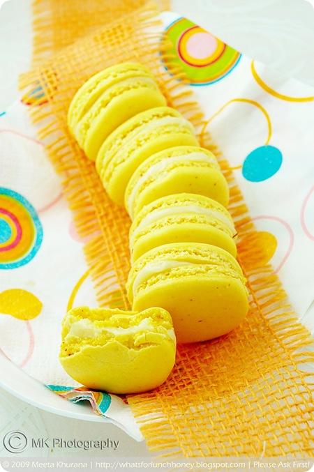 Saffron Cardamom Macarons (09) by MeetaK