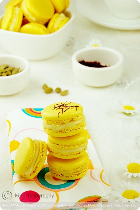 Saffron Cardamom Macarons (04) by MeetaK