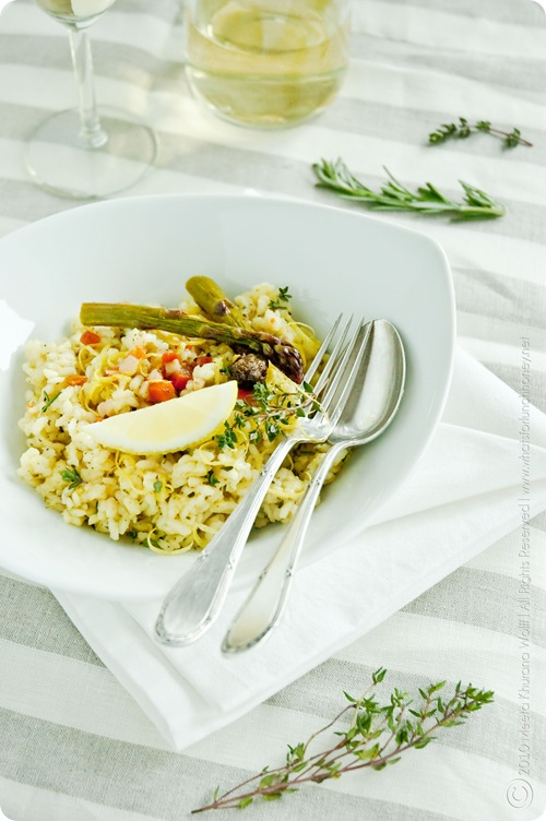 Lemon Herb Risotto with Roasted Asparagus (0008) by MeetaK