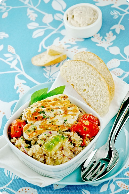 Quinoa Salad with Garlic Haloumi (02) by MeetaK