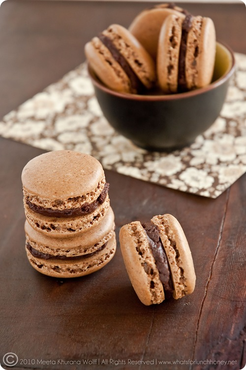 Rooibos Chocolate Chai and Sweet Spicy Chocolate Cinnamon Macarons (0025) by MeetaK