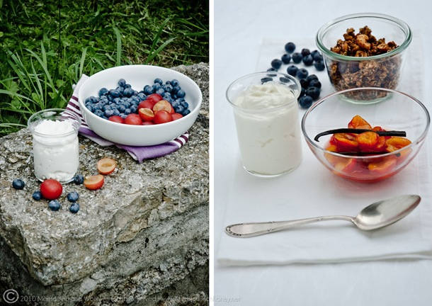 Plum Blueberry Granola Crunch Verrine (Diptych002) by MeetaKWolff