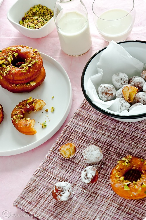 Saffron Cardamom Doughnuts (017) by Meeta K. Wolff