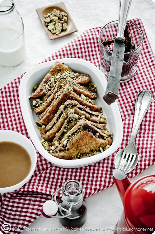 Chocolate and Pistachio French Toast (0006-2) by Meeta K. Wolff