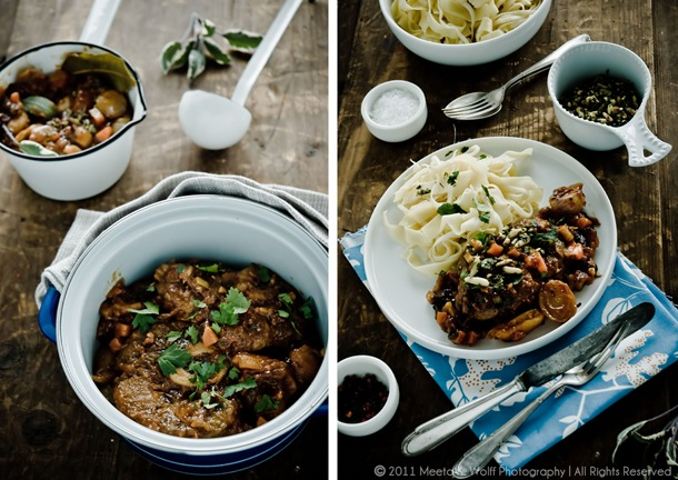 Diptych Ossobuco with Prunes, Apricots and Saffron (0012.0017)  by Meeta K. Wolff