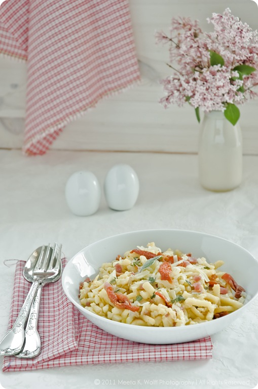 Gruyere Bacon Leek and Sun Dried Tomato Sptzle (0003) by Meeta K. Wolff