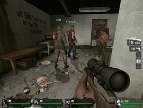 You never roll alone in Left 4 Dead.