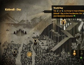 You will stare at this map of Kirkwall a lot.