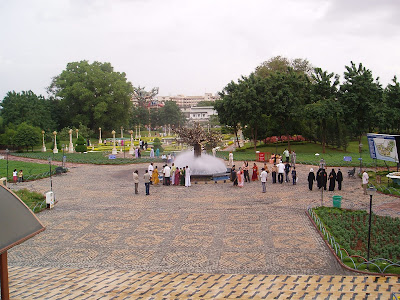 Lumbini Park, a public urban park of 7.5 acres adjacent to Hussain Sagar Lake, located in the center of Hyderabad, the capital city of Andhra Pradesh in India