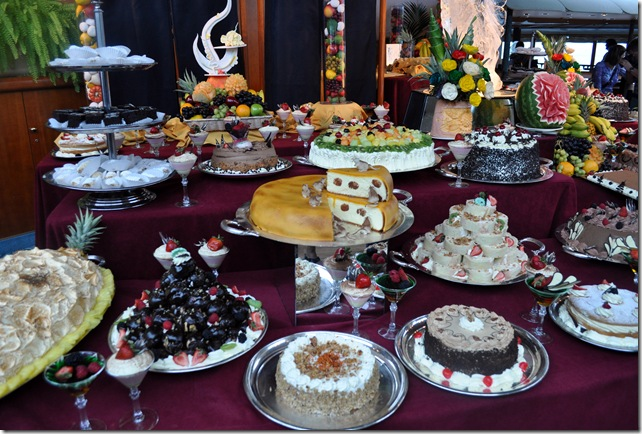 elaborate dessert table
